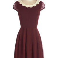 Surprise Me Dress in Burgundy | Mod Retro Vintage Dresses | ModCloth.com