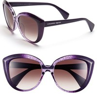 Alexander McQueen 55mm Gradient Cat Eye Sunglasses | Nordstrom