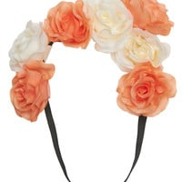 Two-Color Rose Headwrap | Wet Seal