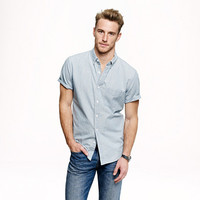 SHORT-SLEEVE SHIRT IN JAPANESE INDIGO CHAMBRAY