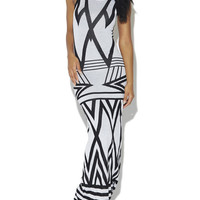 Geometric Sweater Maxi Dress | Arden B.