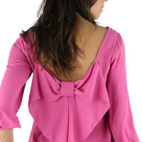 Bow Back Blouse - Raspberry Pink