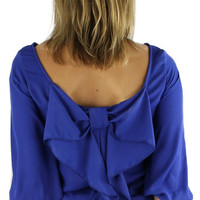 Bow Back Blouse - Royal Blue