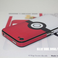 Deluxe Pokeball iPhone 4 Decal Skin AT&T by killerduckdecals