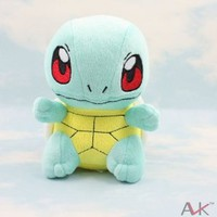 "Takaratomy Pokemon Best Wishes Plush Doll Squirtle 16cm (6"")"