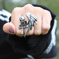 sirenlondon — Skull Wing Ring