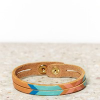 AEO PAINTED SPLIT LEATHER CUFF