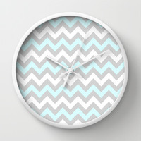 Chevron #5 Wall Clock by Ornaart