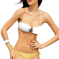 Pandolah Sexy Women Bikini Beachwear Ladies' Sailor Fashion Swimwear Swimsuit