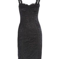 Buy DOLCE & GABBANA Black lace bust dress from Matches Fashion