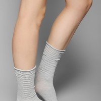 Ruched & Bauble Side Stitch Crew Sock - Urban Outfitters