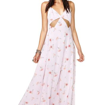 Nasty Gal Falling Lilies Maxi Dress