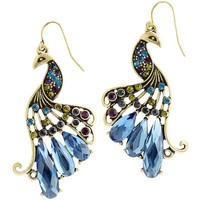 Jewel Peacock Earrings