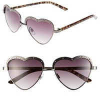 Steve Madden 'Heart' 53mm Sunglasses | Nordstrom
