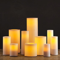 Remote Control Indoor/Outdoor Flameless Pillar Candles