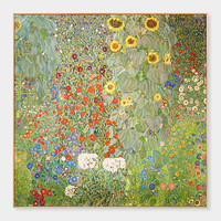 Klimt: Farm Garden With Sunflowers Framed Print | MoMA