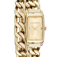 KARL LAGERFELD 'Kourbe' Double Wrap Bracelet Watch, 20mm x 30mm | Nordstrom
