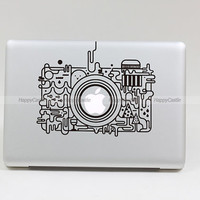 Camera Macbook Decal Pro/Air Sticker Handmade by Newvision2012