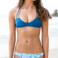 The Girl and The Water - Mikoh Swimwear - Miyako Bikini Bottom / Hibiscus - $78