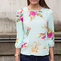 Monet Garden Blouse
