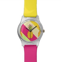 Tropical Pineapples - Designer Wrist Watch