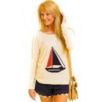 THML:Come Sail Away With Me Sweater-Ivory