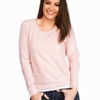 LACE RAGLAN FLEECE