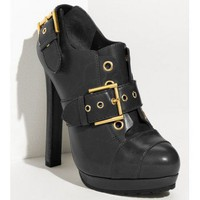 Alexander McQueen Buckled Leather Bootie