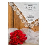 Rustic Poinsettia Country Winter Bridal Shower