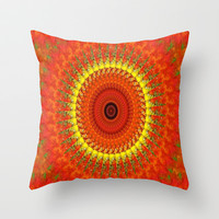 Fall Colors Throw Pillow by Laura Santeler