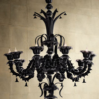 &quot;Venetian Noir&quot; Chandelier - Horchow
