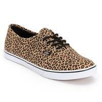 Vans Girls Authentic Lo Pro Leopard Herringbone Shoe