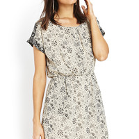 Atomic Print Shift Dress