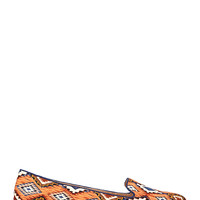 Tribal Print Loafers