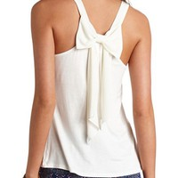 CHIFFON BOW-BACK TANK TOP