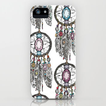 gemstone dreamcatcher iPhone & iPod Case by Sharon Turner