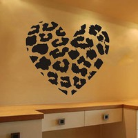 "23.6"" X 27.6"" DIY Leopard Leopard Print Decor Heart Spots Animal Print Wall Decal Stickert Decor DIY Removable Vinyl Mural Décor Boys and Girls Room Home"