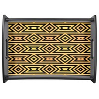 Yellow/Orange Aztec Pattern - Large Serving Tray by Lyle Hatch @ Zazzle.com