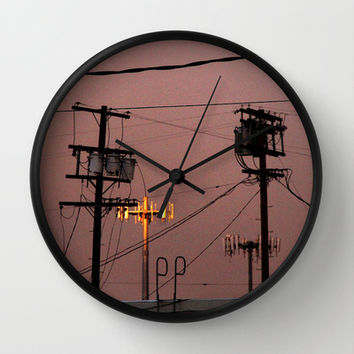 urban scene Wall Clock by Marianna Tankelevich