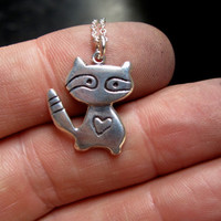 Little Raccoon Sterling Necklace
