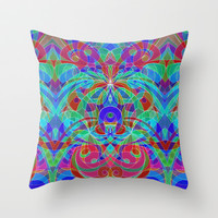 Ethnic Style G111 Throw Pillow by MedusArt