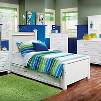 Cottage Colors White 5 Pc Twin Panel Bedroom