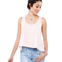Papaya Clothing Online :: LACY BACK SLEEVELESS TOP