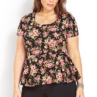 Garden Girl Peplum Top