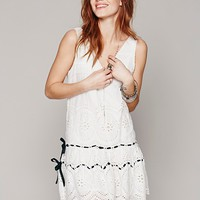 Free People Eyelet Shapeless V Neck