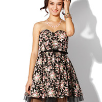 Papaya Clothing Online :: FLORAL PRINT BELT PETTICOAT MINI DRESS