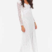 A Moment Like Bliss White Lace Dress