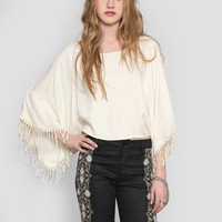 SANTA FE CROP BLOUSE