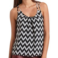 STRAPPY CHEVRON TANK TOP