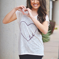 Closet Candy Boutique · Infinite Heart Short Sleeve Tunic - Ivory
